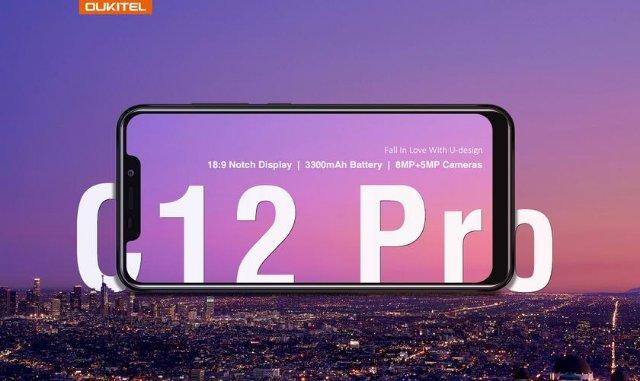 OUKITEL C12 Pro: новый бюджетный смартфон с вырезом на экране